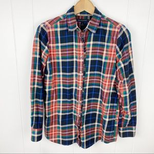 Banana republic•Plaid button up flannel shirt